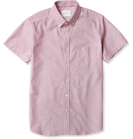 Saturdays Surf NYC Esquina Short-Sleeved Oxford Shirt
