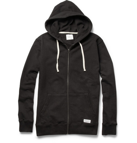 Saturdays Surf NYC Zipped Loopback Cotton-Jersey Hoodie