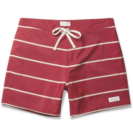 Saturdays Surf NYC Horizon Striped Mid-Length Swim Shorts