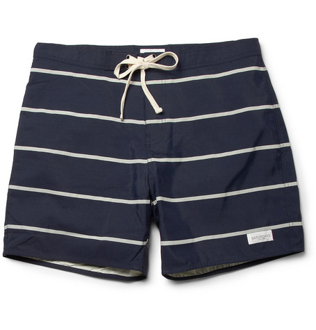 Saturdays Surf NYC Horizon Striped Swim Shorts