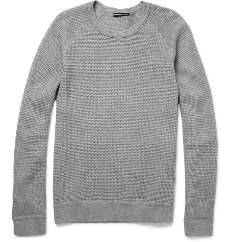 James Perse Waffle-Knit Cotton and Cashmere-Blend T-Shirt