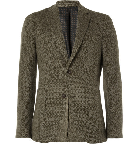 Slowear Montedoro Unstructured Wool-Tweed Blazer