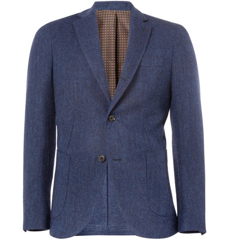 Slowear Montedoro Herringbone Cotton Blazer