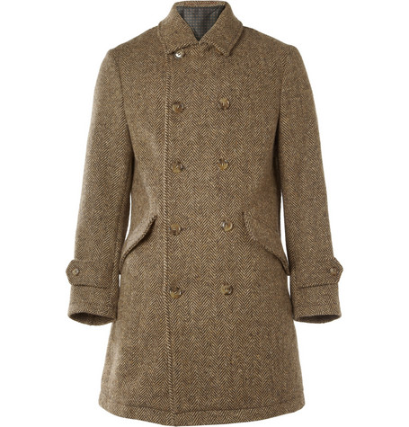Slowear Montedoro Oversized Wool-Tweed Coat