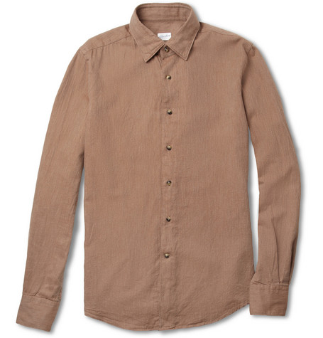 Slowear Glanshirt Brushed Cotton-Twill Shirt