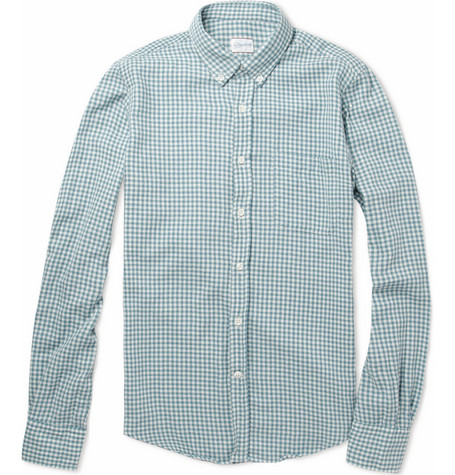 Slowear Glanshirt Slim-Fit Gingham Check Cotton Shirt