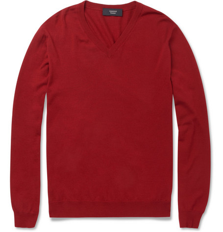 Slowear Zanone Wool-Blend V-Neck Sweater