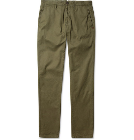 Slowear Incotex Slim-Fit Cotton-Twill Trousers