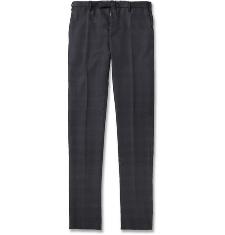 Slowear Incotex Slim-Fit Plaid Wool Trousers