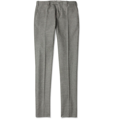 Slowear Incotex Patterned Slim-Fit Wool Trousers