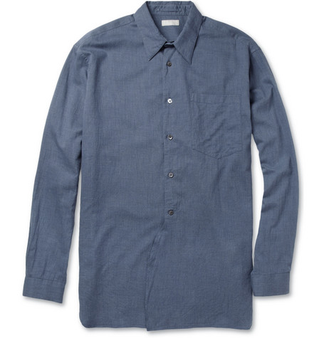 Margaret Howell Brushed Cotton-Chambray Shirt