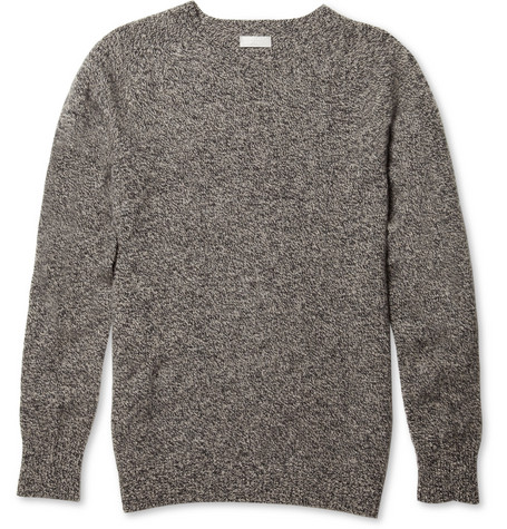 Margaret Howell Wool and Cashmere-Blend Melange Sweater