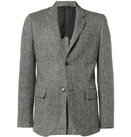 Margaret Howell Herringbone Wool Blazer