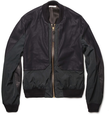 Paul Smith Panelled-Leather Bomber Jacket