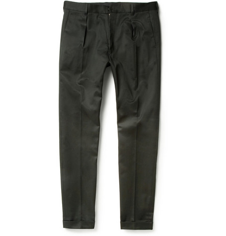 Paul Smith Pleated Cotton-Blend Twill Trousers