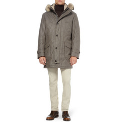 Loro Piana Storm System Fox-Trimmed Cashmere-Blend Parka Jacket