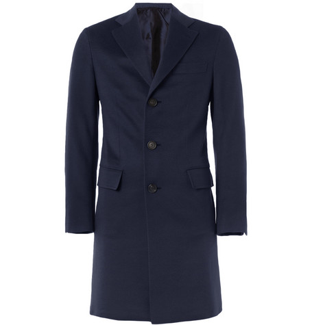 Brioni Unstructured Slim-Fit Cashmere Overcoat