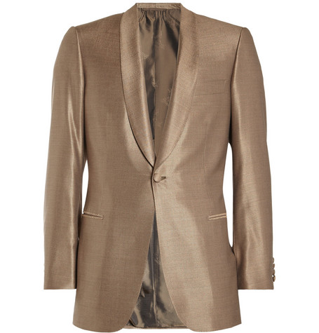 Brioni Shawl-Collar Wool and Silk-Blend Dinner Jacket
