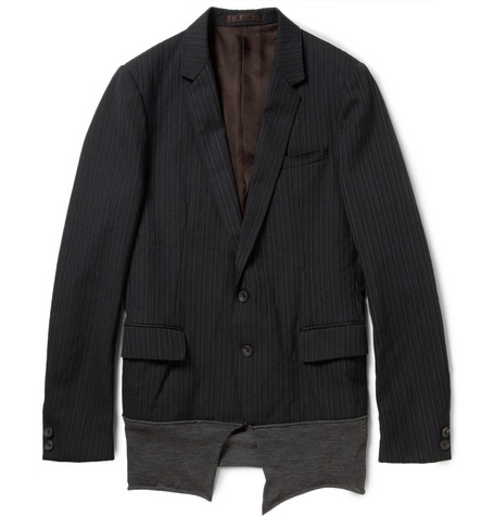 Kolor Contrast-Paneled Cotton-Blend Blazer