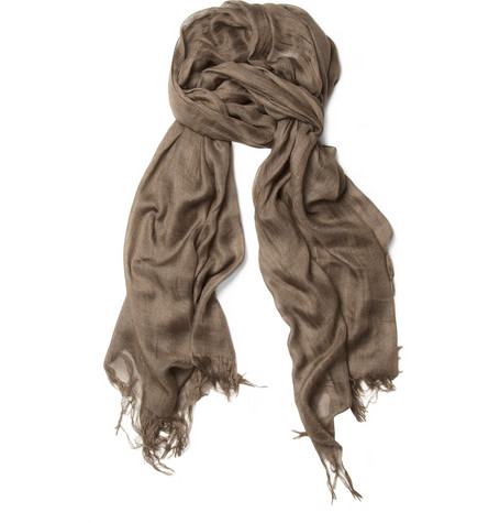 Kolor Silk and Cashmere-Blend Scarf