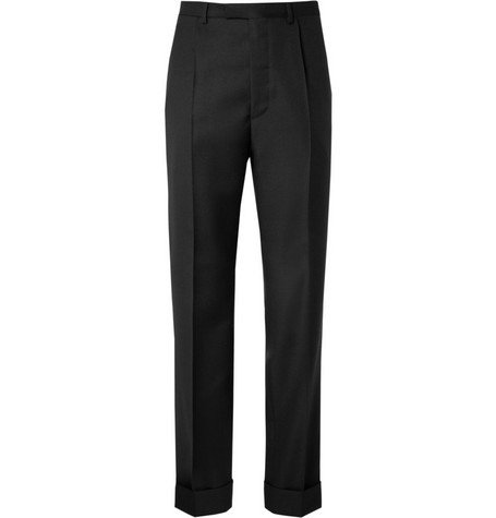 Jil Sander Pleated Wool and Mohair-Blend Trousers