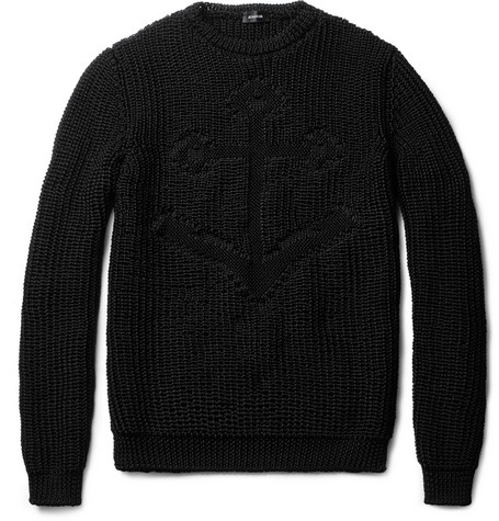 Jil Sander Anchor Intarsia Loose-Knit Sweater