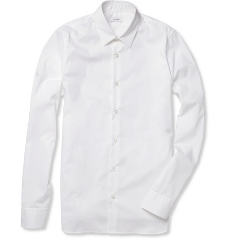 Jil Sander Slim-Fit Stretch Cotton-Poplin Shirt