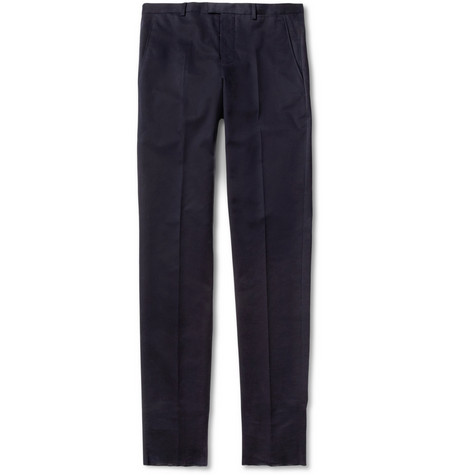 Jil Sander Slim-Fit Brushed-Cotton Trousers
