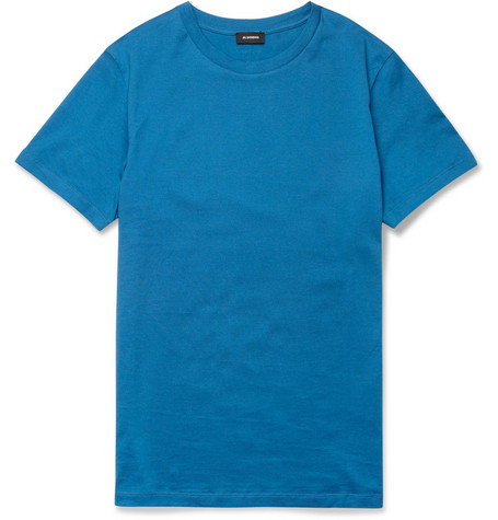 Jil Sander Classic Cotton Crew Neck T-Shirt