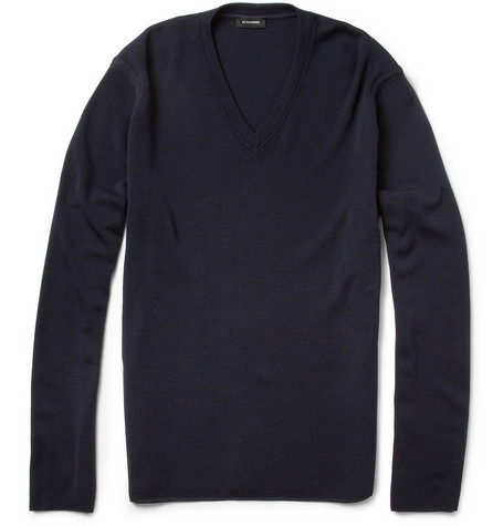 Jil Sander V-Neck Merino Wool Sweater
