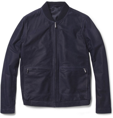 Alfred Dunhill Nubuck Leather Jacket