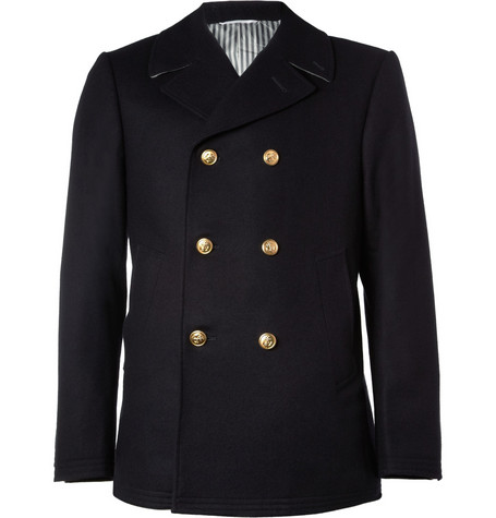 Thom Browne Wool and Cashmere-Blend Peacoat
