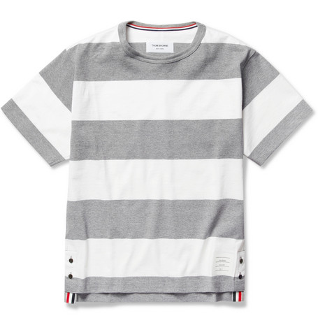 Thom Browne Striped Cotton T-Shirt