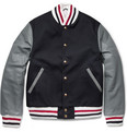 Thom Browne - Cotton and Leather Bomber Jacket