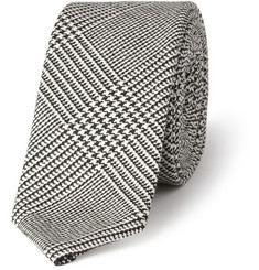 Thom Browne Houndstooth Check Wool Tie