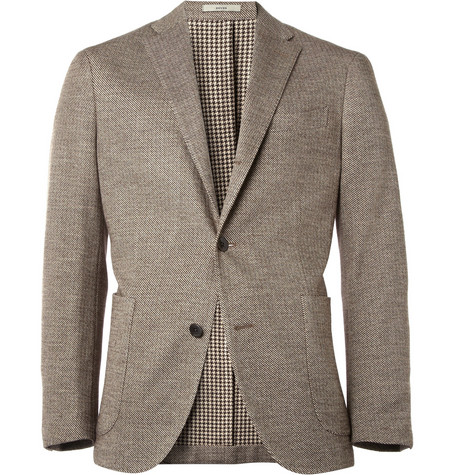 Boglioli Dover Unstructured Striped Cotton-Blend Blazer