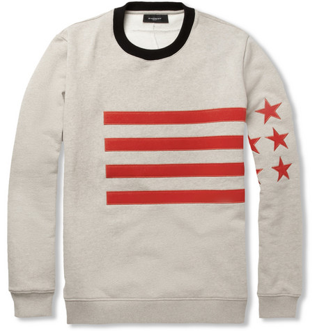 Givenchy Appliquéd Cotton-Jersey Sweater