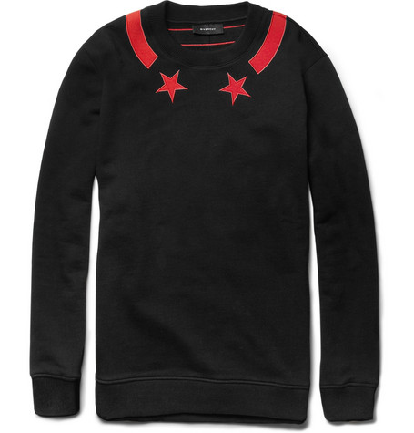 Givenchy Star-Detail Cotton-Jersey Sweatshirt
