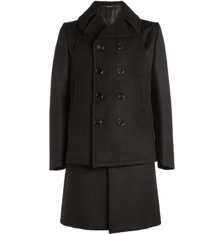 Givenchy Slim-Fit Double-Layered Wool-Blend Coat