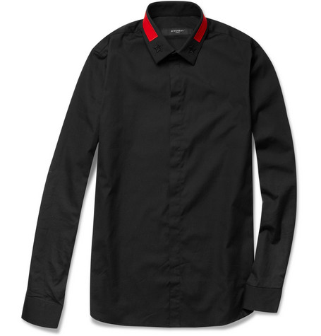 Givenchy Collar-Detail Cotton-Blend Shirt