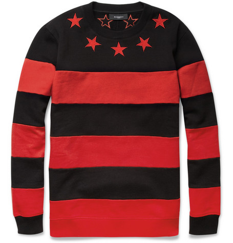 Givenchy Striped Cotton-Jersey Sweater