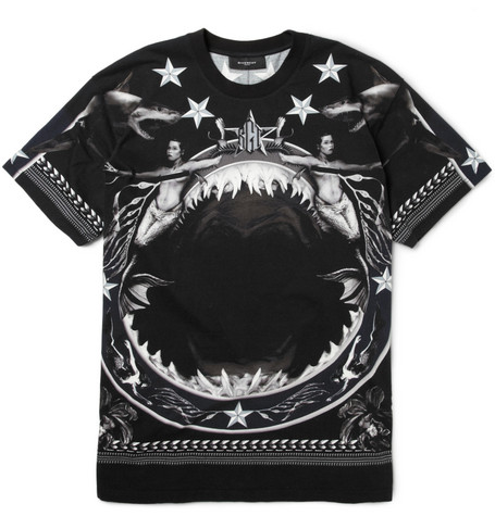 Givenchy Oversized Shark-Print Cotton-Jersey T-Shirt