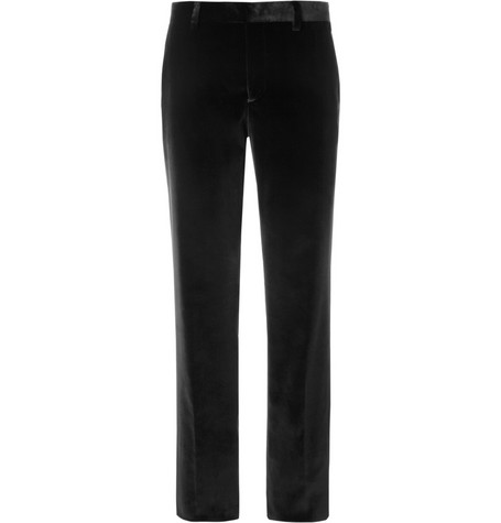 Etro Straight-Leg Velvet Trousers