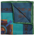 Etro Printed Silk Pocket Square