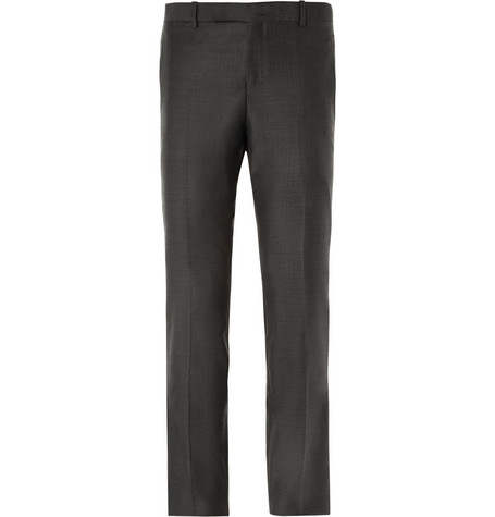 Wooyoungmi Slim-Fit Herringbone Wool Suit Trousers