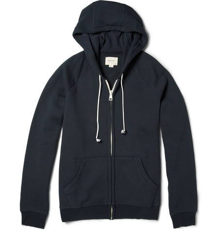 Band of Outsiders Hooded Zip-Up Cotton-Blend Sweater