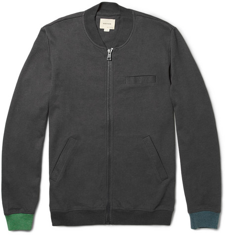 Band of Outsiders Cotton and Wool-Blend Varsity Jacket
