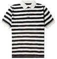 Band of Outsiders Striped Cotton-Piqué Polo Shirt