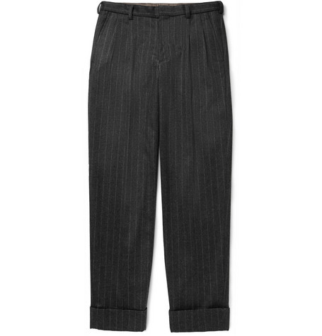 Kolor Pinstriped Wool and Cashmere-Blend Trousers