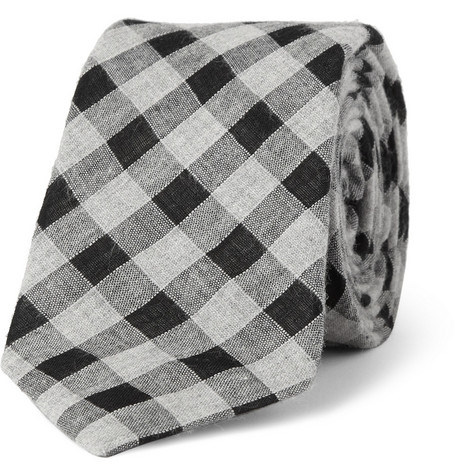 Alexander Olch Plaid Cotton Tie